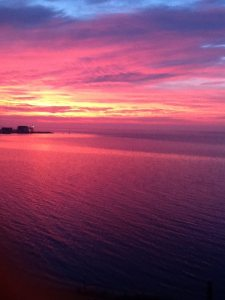 View from Amityville - Great South Bay, October 29, 2014 Photo Courtesy of Loretta Del Vecchio Weber